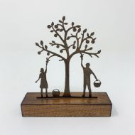 David Mayne 'Apple Pickers' Oxidised Steel Sculpture